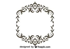 retro floral frame ornamental design vector free