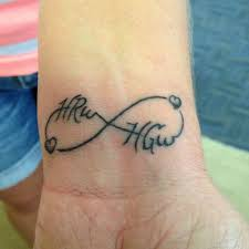 infinity tattoo with names google search karen tat ideas