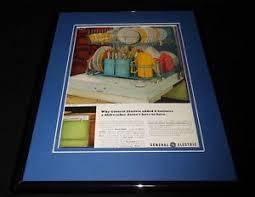 General Electric Dishwasher 1966 Ge General Electric Dishwasher 11x14 Framed Original Vintage