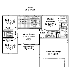 Single Story Ranch Style House Plans Ranch Style House Plan 3 Beds 2 00 Baths 1310 Sq Ft Plan 21 342