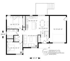 bi level house plans with attached garage house plan w3323 big detail from drummondhouseplans com