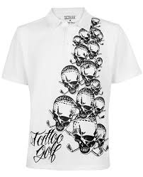 amazon com tattoogolf crazy golf shirt the blade polo by tattoo