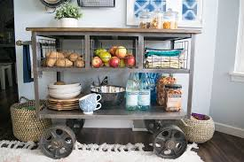 World Market Hutch Small Spaces 4 Cool Kitchen Makeover Tips