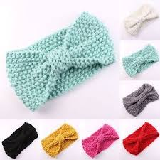 crochet band kids girl bow crochet headband baby toddler hair band