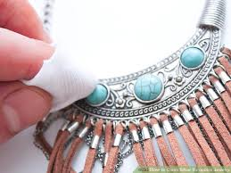 silver turquoise necklace images How to clean silver turquoise jewelry 10 steps with pictures jpg