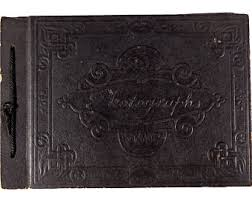 Black Leather Scrapbook Black Photo Album Etsy
