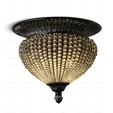 Semi Flush Ceiling Lights Vintage Country Crystal Beads For Semi Flush Ceiling Lighting