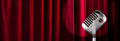 Curtains On A Stage Red Cross Revue