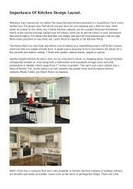 importance of kitchen design layout
