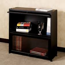 Narrow Bookcase Espresso by Furniture Black Wooden Book Case With Glass Door Placed On Cream