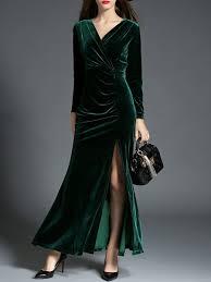 evening dress velvet ruched sheath evening dress stylewe