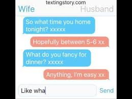 Trending Funny Text Messages To - comical husband wife text conversation very funny text message