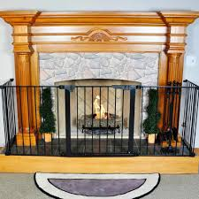 Fire Proof Hearth Rugs Hearthgate Child Guard Fireplace Screen Northline Express Baby
