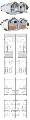 duplex house plans for narrow lots duplex house plan to narrow lot 2 bed plans pinterest