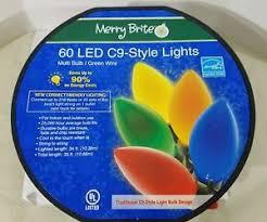energy star led c9 lights merry brite 60 ct led c9 style lights multi color bulbs energy