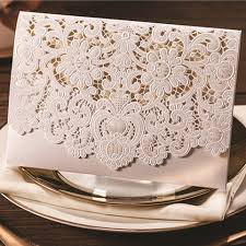 wedding invitation pocket envelopes graceful pearl white laser cut pocket envelope wedding invitation