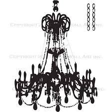 Black Chandelier Clip Art Grunge Chandelier Wall Decal A Vinyl Wall Chandelier Wall Art