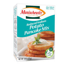 potato pancake mix manischewitz reduced sodium potato pancake mix
