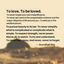 Iyanla Vanzant Quotes On Love by Arundhati Roy Quote About Love