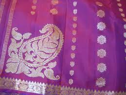 Beautiful Purple Motifs Sujata U0027s Blog Two New Sarees