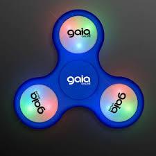 fidget spinner light up blue light up blue fidget spinner 3 5 days 12253 bl 5 ideastage