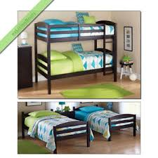 Bunk Bed Espresso Bunk Beds Boys Convertible Bunkbeds Wood
