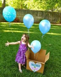 balloons in a box gender reveal unique and baby gender reveal ideas