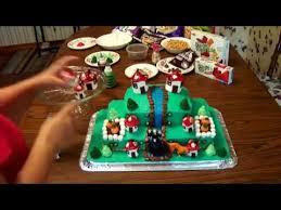 how to make a smurf birthday cake youtube