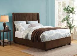 Bay Area Modern Furniture by Brown Velvet Bed Bay Area Ac 770 Traditional Bedroom