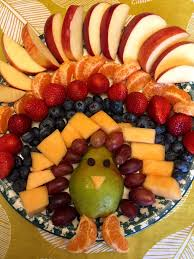 thanksgiving turkey shaped fruit platter appetizer recipe melanie