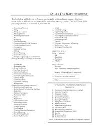 Sales Associate Skills List For Resume Resume Skills List Template