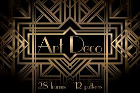 Art Deco Design by Art Deco Frames And Patterns Patterns Creative Market