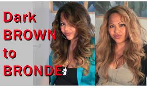 bronde hair home coloring dark brown to bronde blonde lightening toning no orange youtube