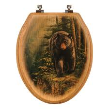 themed toilet seats moose toilet seats black forest decor