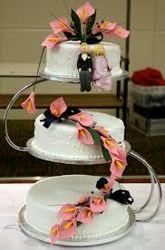 3 tier wedding cake stand 3 tiered wedding cake on swan stand wedding cakes