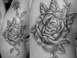 roses hip tattoo love the placement just without the thorns