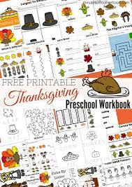 free printable thanksgiving day preschool workbook preschool