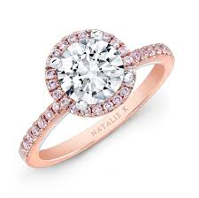 colored engagement rings 18k and white gold pink diamond halo white diamond gallery