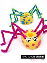 pool noodle spiders fun and quick 5min craft for kids pool