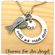 remembrance necklace sted my angel necklace until we meet again angel
