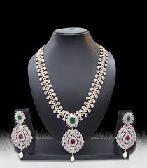 diamonds necklace photos images Buy multicolor american diamonds necklace sets online JPG