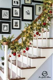 indoor decorations best 25 christmas stairs decorations ideas on