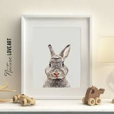 chambre lapin rabbit print woodland animals printable bunny print