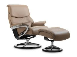 Stylish Recliner Stressless Capri Recliner In Paloma Leather Color Funghi With