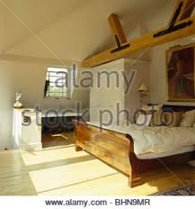 Pole In Bedroom Roll Top Bath Below Window With Draped White Fabric On Pole In