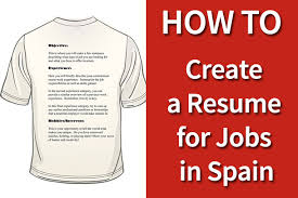 Create A Resume For Job by How To Create A Resume For Jobs In Spain Roostergnn