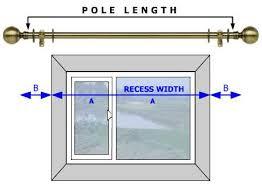 Curtain Size Calculator Curtain Pole Measuring Guide