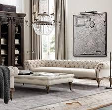 restoration hardware chesterfield sofa rh s 7 39 islington chesterfield upholstered sofa flaring scroll