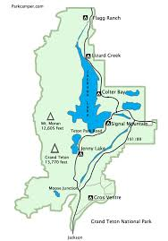 grand teton map grand teton national park cing