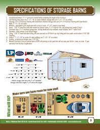 Overhead Doors For Sheds by Specifications For Storage Barns